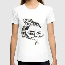 Girl in Fur T-shirt