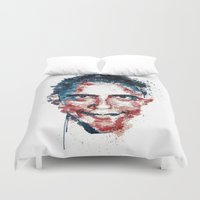 obama Duvet Covers featuring Obama by I AM DIMITRI