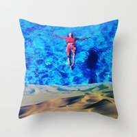 oasis Throw Pillows featuring Oasis by John Turck