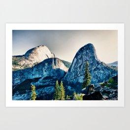 Yosemite Liberty Cap, Mt Broderick Art Print