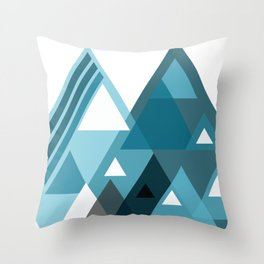 digital triangles Throw Pillow