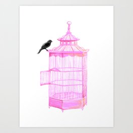 Brooke Figer - PRETTY smart BIRD Art Print
