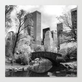 Central Park Bridge. Canvas Print