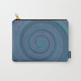 Re-Created Spin Painting (Grayish Blue) by Robert S. Lee Carry-All Pouch