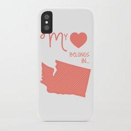 My Heart Belongs in Washington iPhone Case