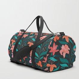 Flame Flowers Duffle Bag