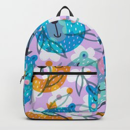cute floral and bears pattern Backpack