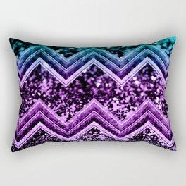 Unicorn Glitter Chevron #4 #shiny #decor #art #society6 Rectangular Pillow