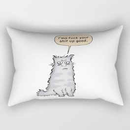 Fuck your shit up Rectangular Pillow