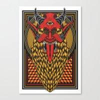 diablo Canvas Prints featuring DIABLO by MIRKOW GASTOW