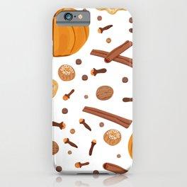 Thanksgiving Pumpkin Spice iPhone Case