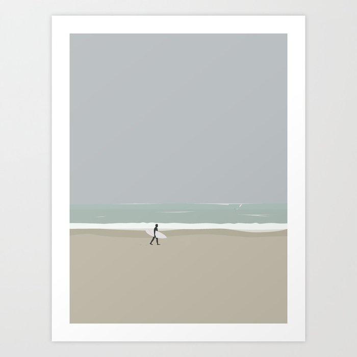 LÆRE AT SURFE Art Print