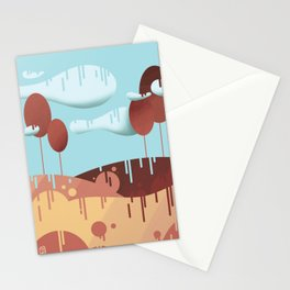 "Landscape - digital art - ""Rain"" Stationery Cards"