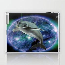 Space dolphin Laptop & iPad Skin
