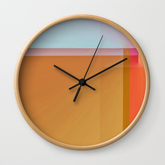 Fibonacci Sunset 1 Wall Clock