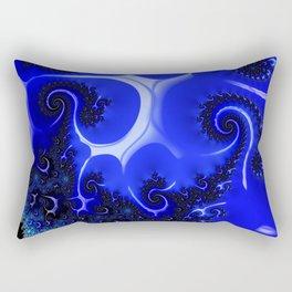 High Blue Unicorn Rectangular Pillow
