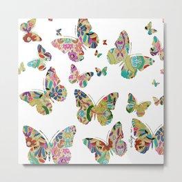 Otomi Butterflies Metal Print