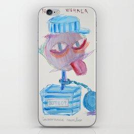 Happy Worker iPhone Skin
