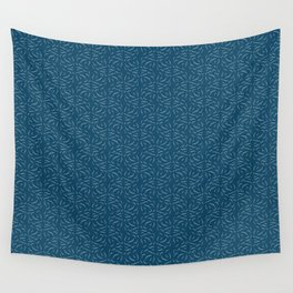 Swirled - Deep Teal Wall Tapestry
