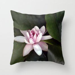 Beautiful Lotus Flower Throw Pillow