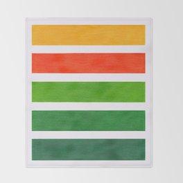 Orange & Green Geometric Pattern Throw Blanket