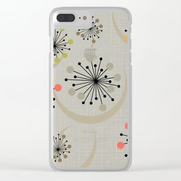 Mid Century Modern Starbursts 2a Clear iPhone Case