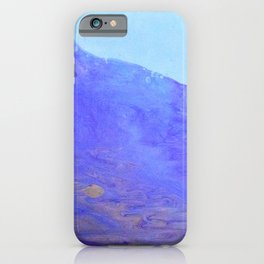 abstract art in blu iPhone Case