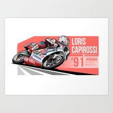 Loris Capirossi - 1991 Jarama Art Print