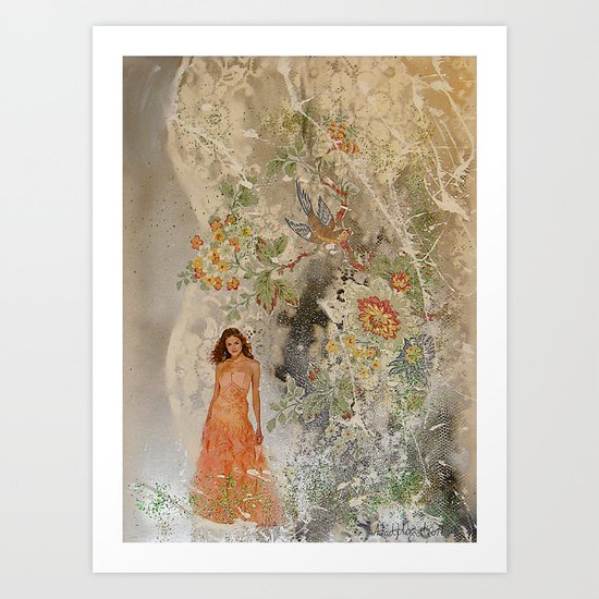 A romantic touch Art Print