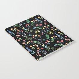 fairytale meadow pattern Notebook