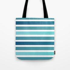 Aqua Stripes Tote Bag