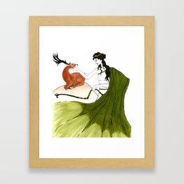 The Lady Artemis, The Goddess of the Hunt Framed Art Print