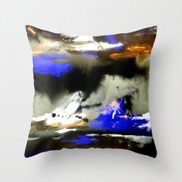 Watercolor Abstract Horizons at Night  Throw Pillow