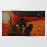 mythology Area & Throw Rugs featuring Inuit Mythology: Chapter 1, part 8 by Estúdio Marte