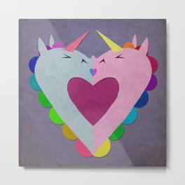 The heart has a kiss in mind Metal Print