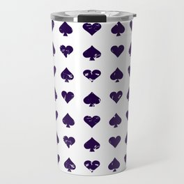 Casino Pattern | Gambling Luck Money Poker Cards Travel Mug
