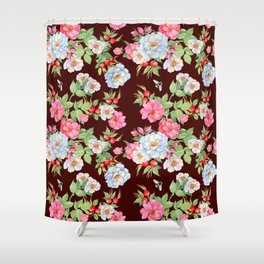 Vintage Floral Pattern No. 5 Shower Curtain