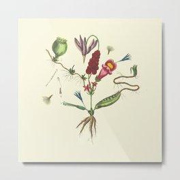 Flaw Flower Metal Print