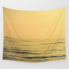 Three Paddlers Wall Tapestry