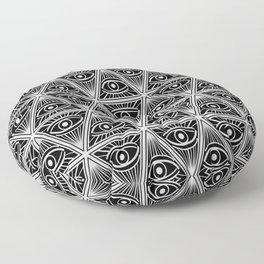 Third Eye Magic Geometric Pattern Floor Pillow