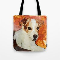 merlin Tote Bags featuring Merlin by © maya lavda / wocado