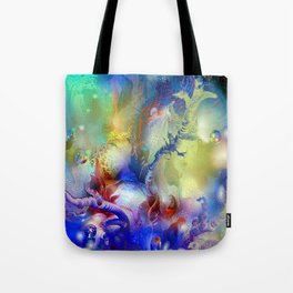 Coral Reef Yellow Blue Tote Bag
