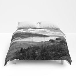 Gepatsch Reservoir Kaunertal Glacier Austria Alps Landscape black white Comforters