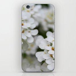 Pretty in White iPhone Skin