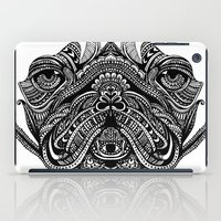 henna iPad Cases featuring Henna of Pugly by Huebucket