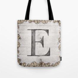 Neutral Monogram E Tote Bag