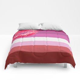 Lipstick Lesbian Flag Comforters