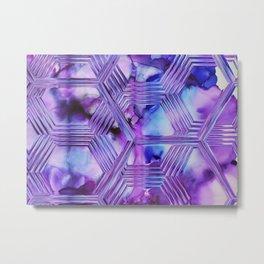 geometric ultra violet v Metal Print