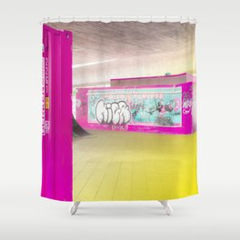 Concrete Blocks Shower Curtain