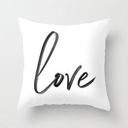 """Handwritten """"Love"""" Throw Pillow"""